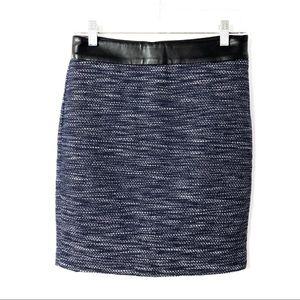 Ann Taylor | Mini Skirt | blue/white tweed